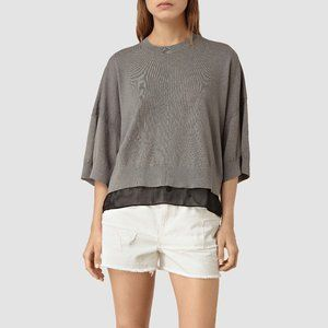 ⚡️All Saints Relm linen oversized top - size Large
